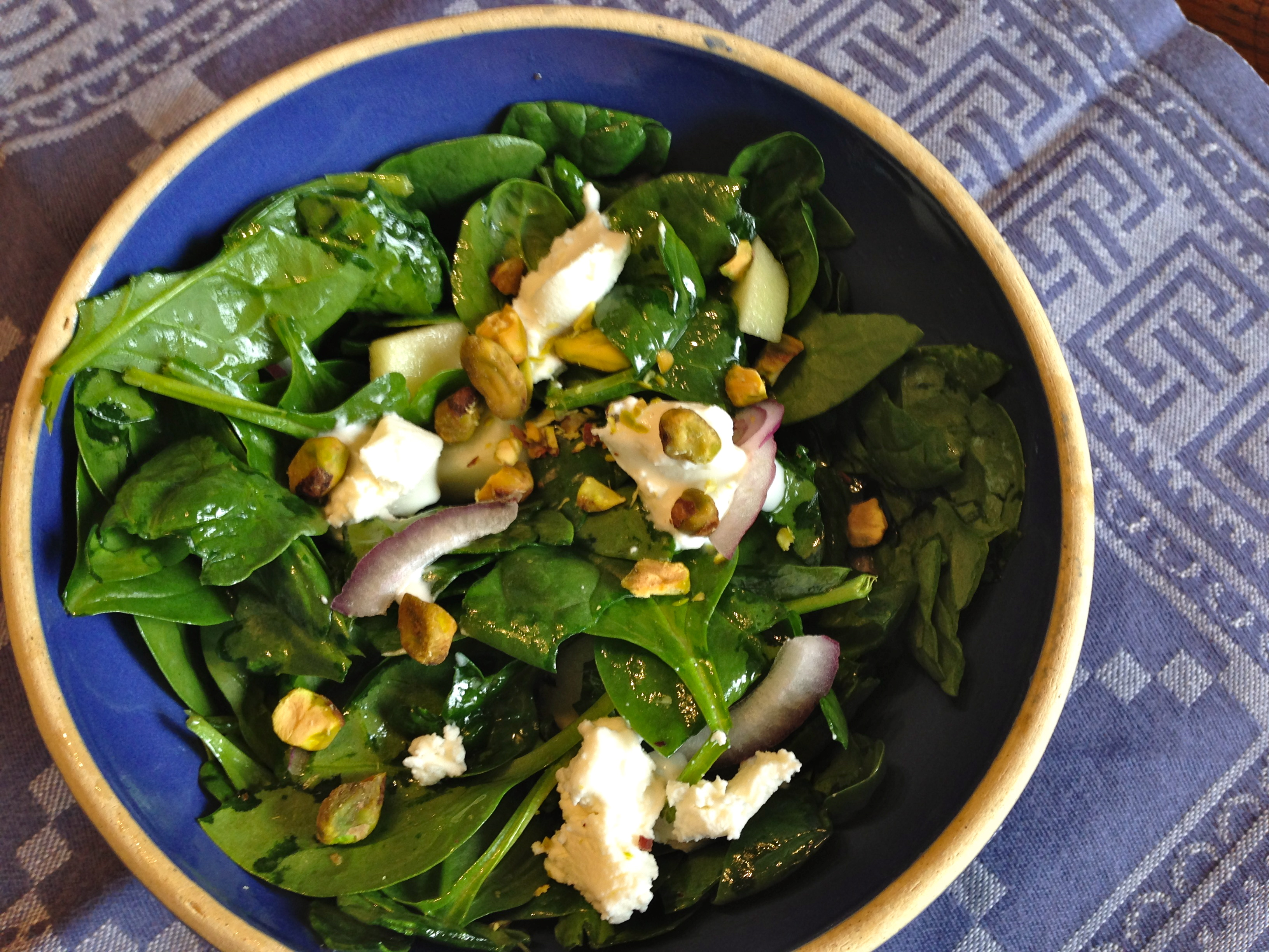 Maple Vinaigrette & Goat Cheese Salad