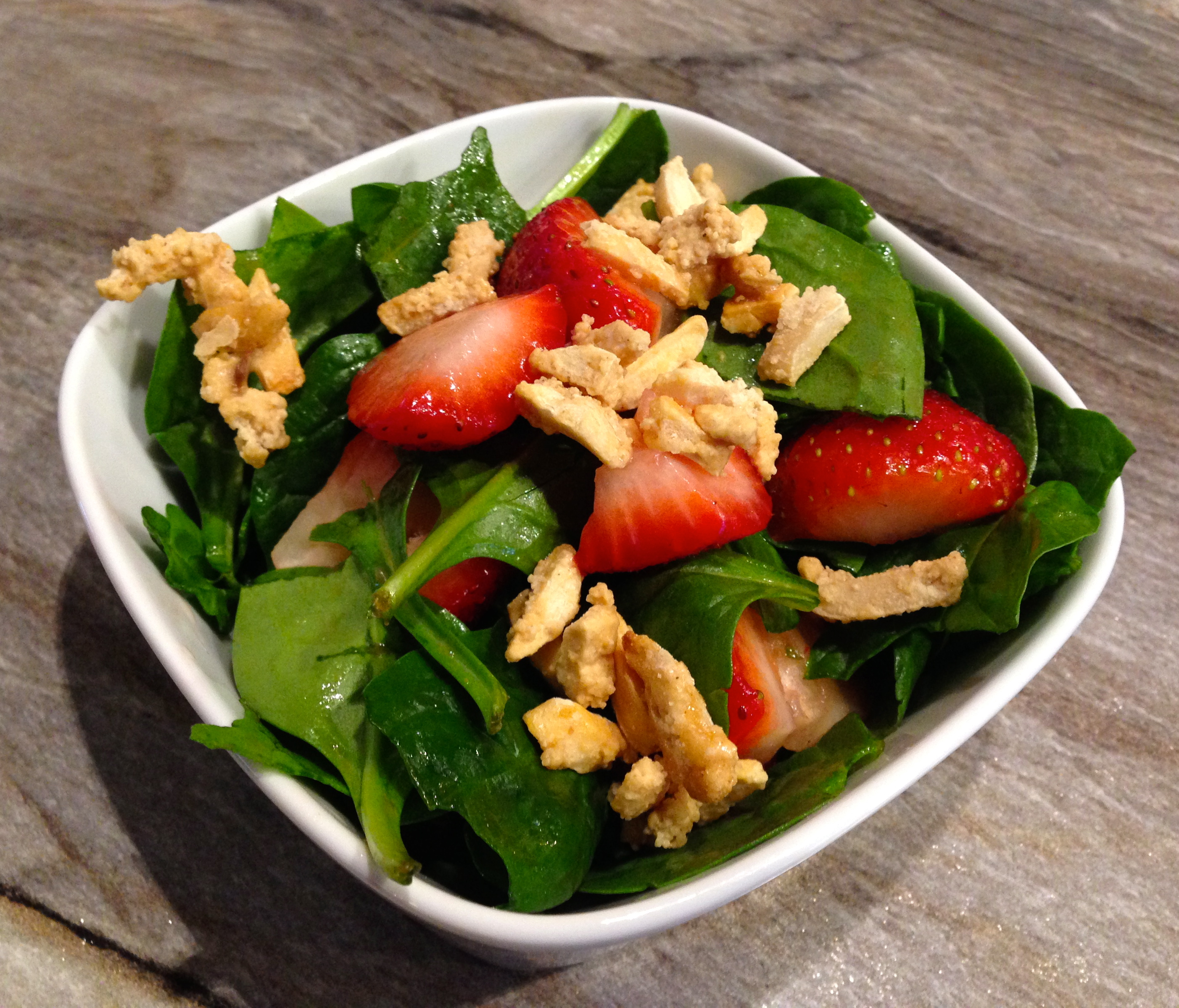 Spinach Salad with Ginger & Lime Vinaigrette
