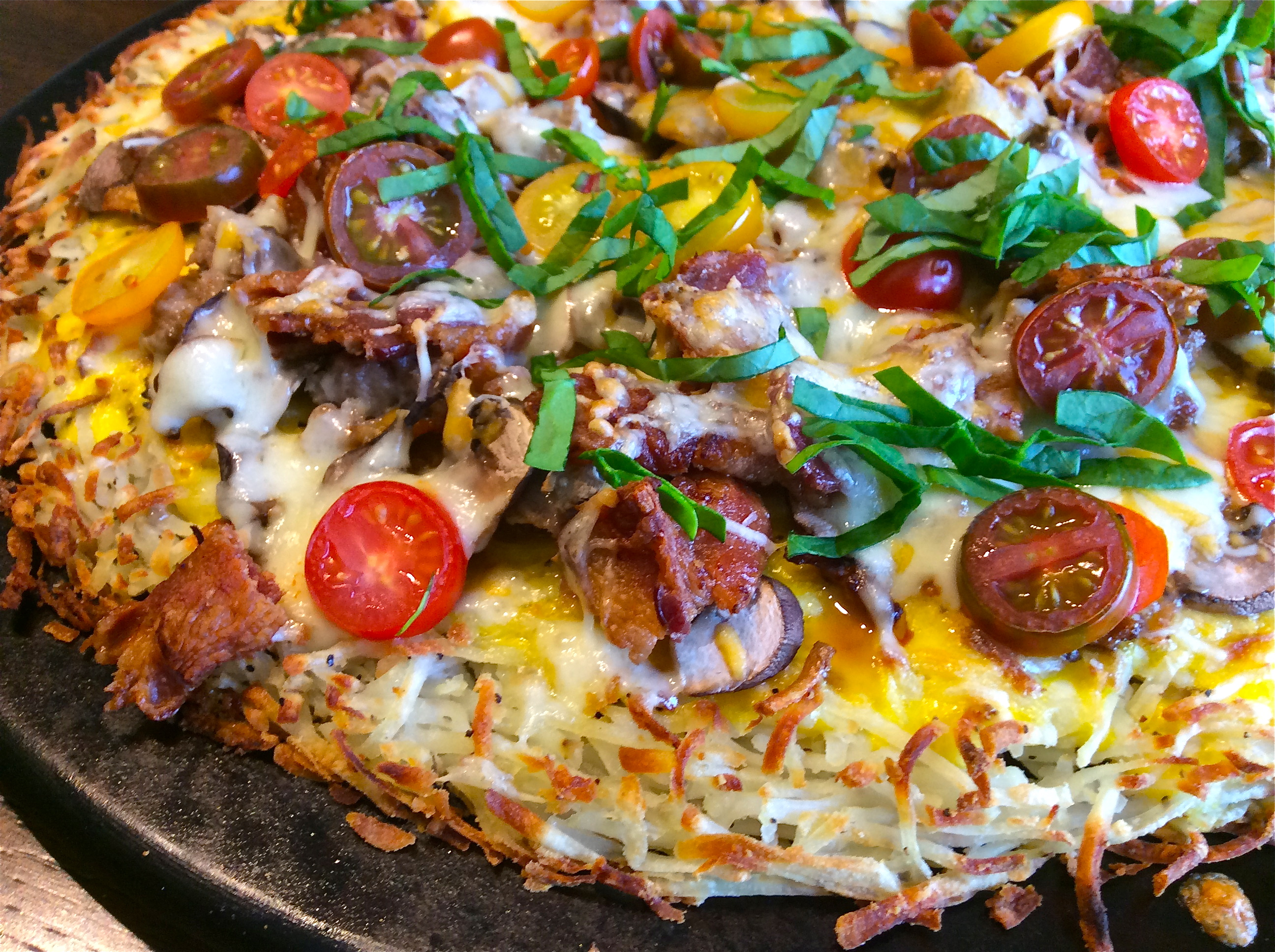 Hashbrown Breakfast Pizza - Gluten Free