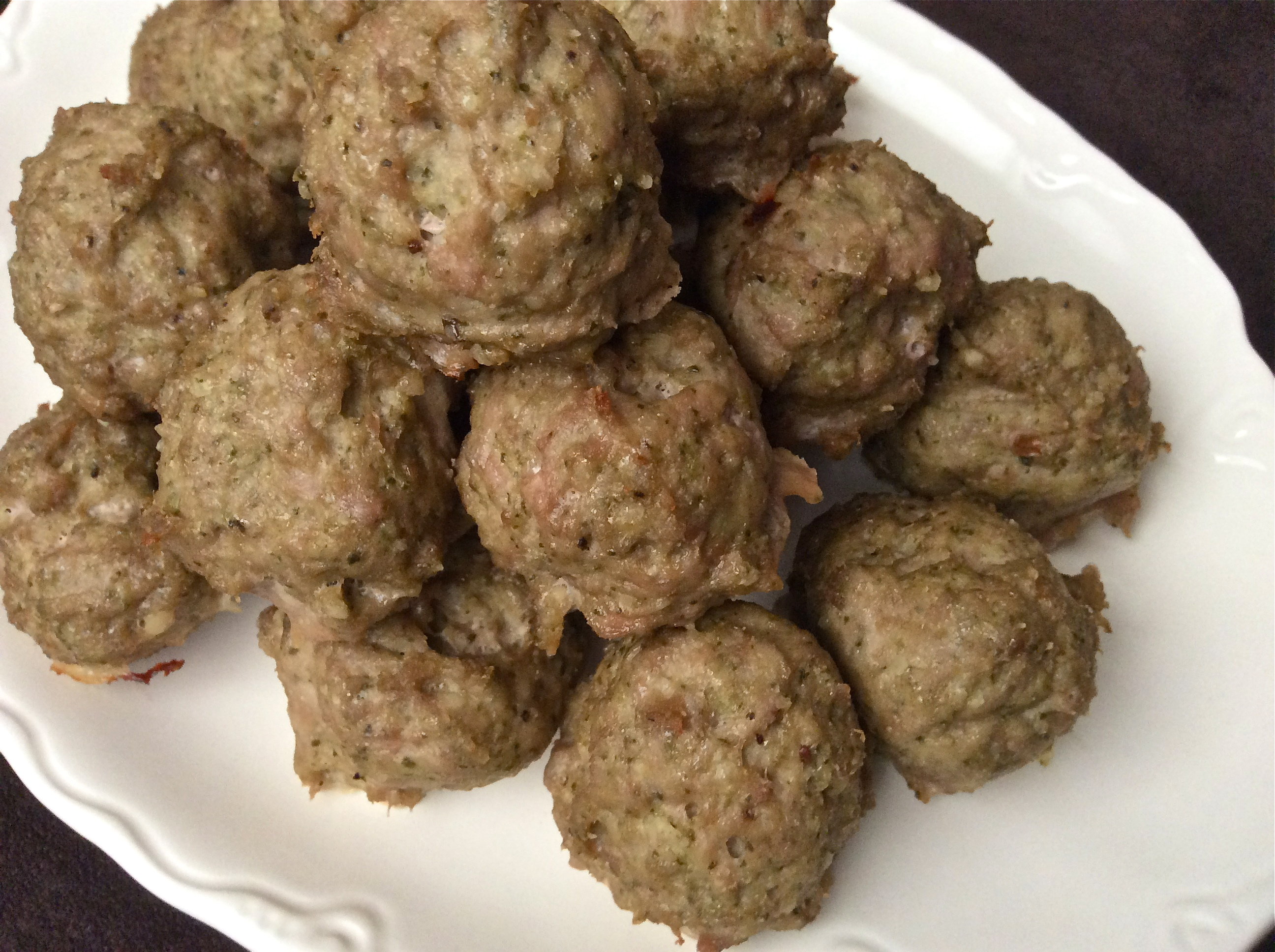 Turkey and Pesto Meatballs - Gluten and Dairy Free