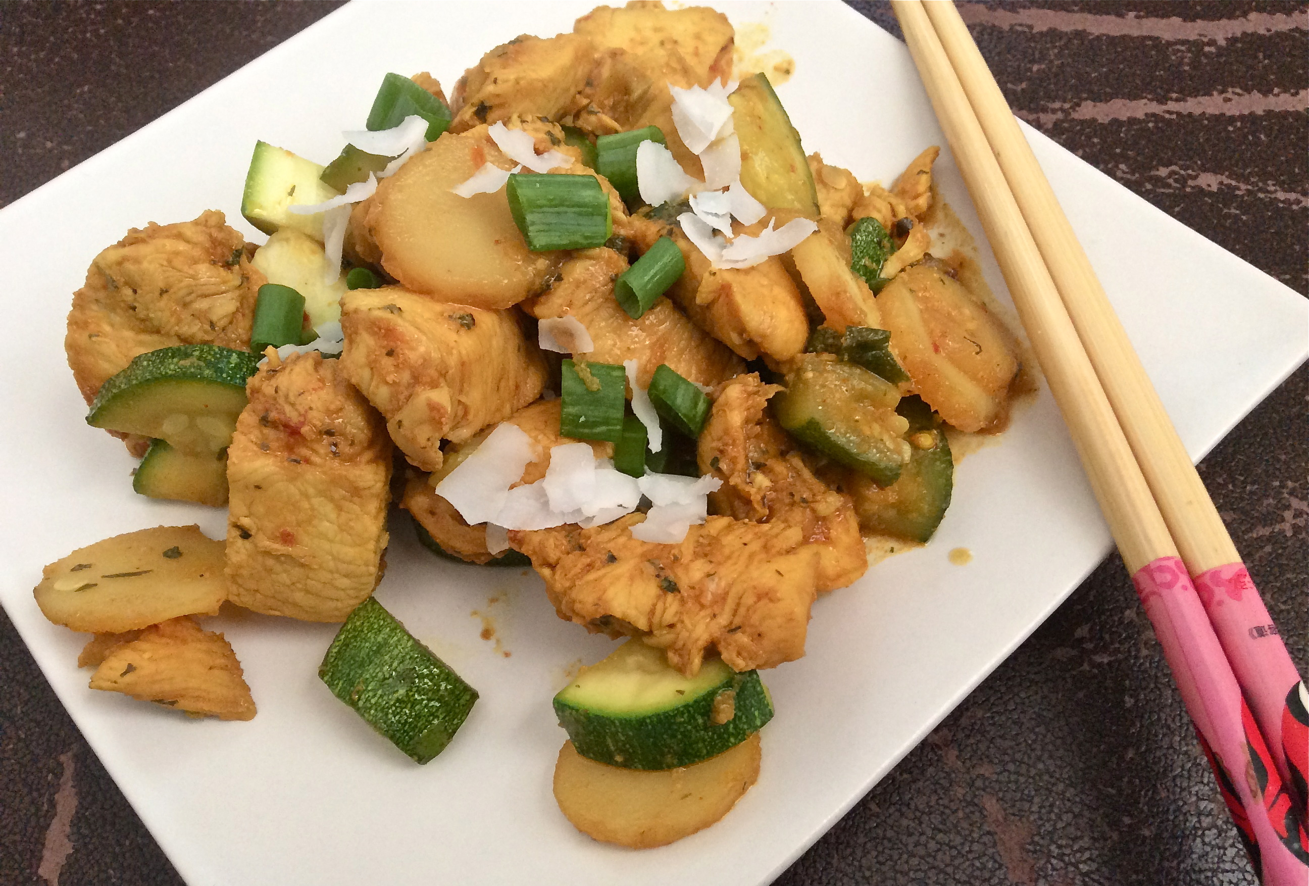 Spicy Chicken and Zucchini Stir Fry