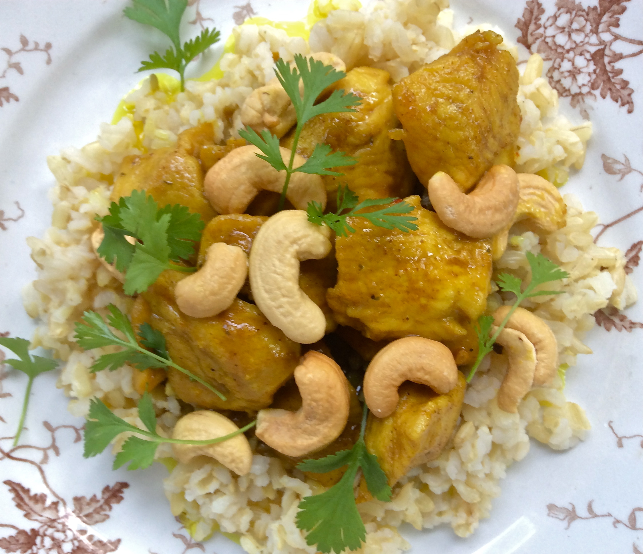 Curry Chicken and Cashews