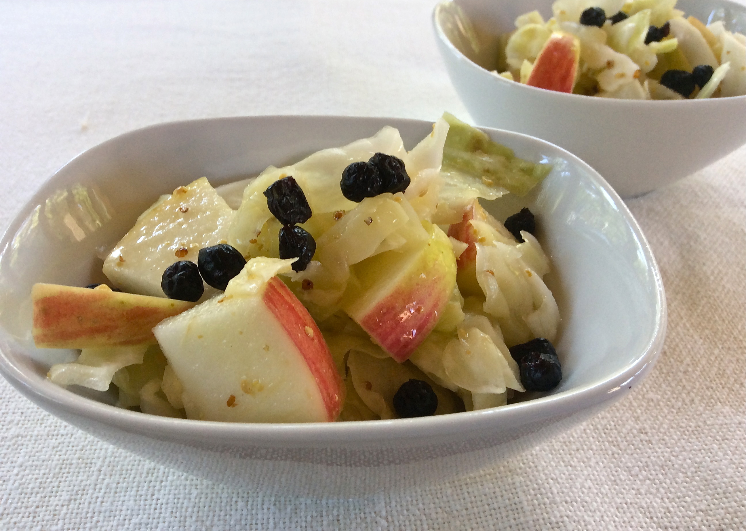 Apple Blueberry Cabbage Salad