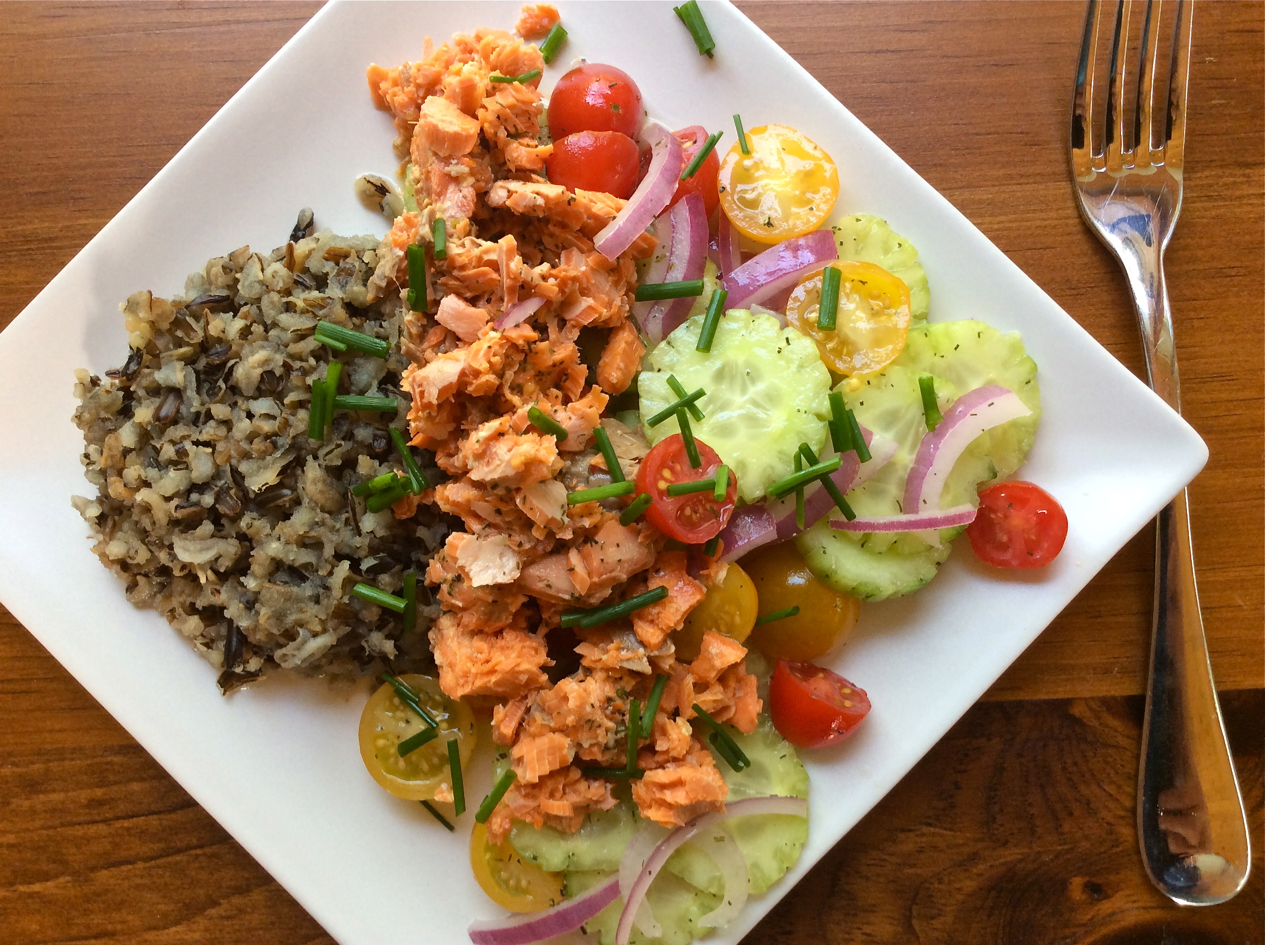 Salmon and Wild Rice Salad with Marinated Vegetables ...
